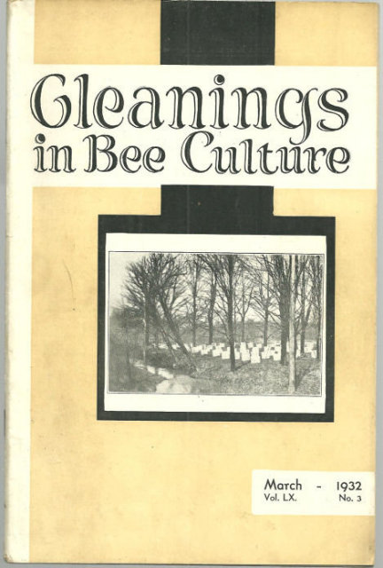 Gleanings in Bee Culture March 1932 Spring Bee Fever
