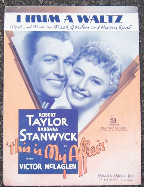 I Hum a Waltz Barbara Stanwyck 1937 Movie Music