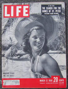 Life Magazine March 27, 1950 Mystery Flight on Cover