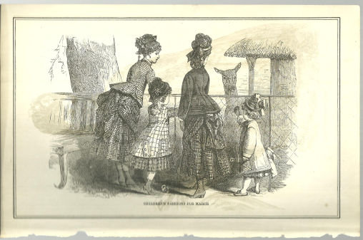 Children's Fashions for March 1876 Peterson's Magazine