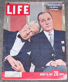 Life Magazine March 10, 1961 Chevalier and Crosby Cover