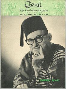 Genii Magazine March 1959 Johnny Platt on Cover