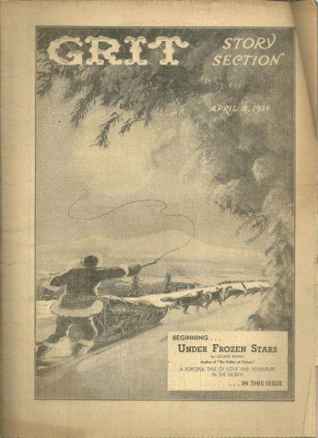 Grit Story Section April 8, 1934 Vintage Fiction