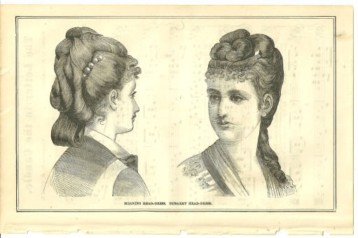 Morning Head-Dress from 1876 Peterson's Magazine