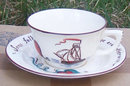 Vintage Czepa Motto Cup and Saucer with Sail Boat