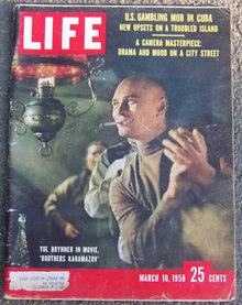 Life Magazine March 10, 1958 Yul Brynner on Cover