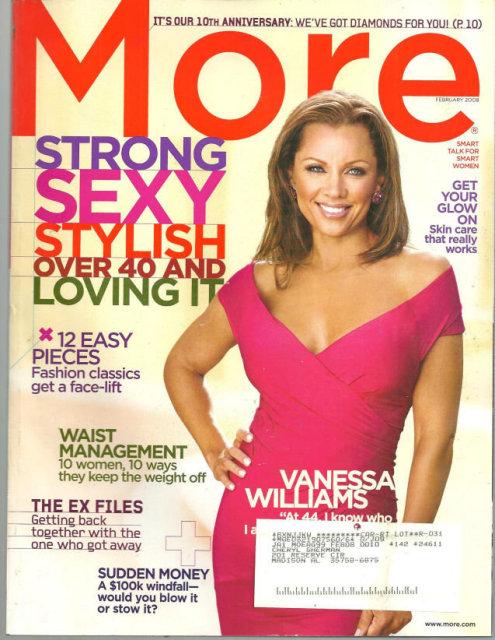 More Magazine February 2008 Vanessa Williams Cover