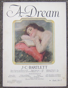 A Dream By  J. C. Bartlett 1923 Sheet Music