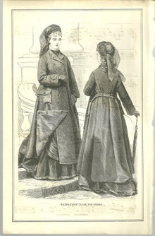 Waterproof Cloak For Spring 1876 Peterson's Magazine