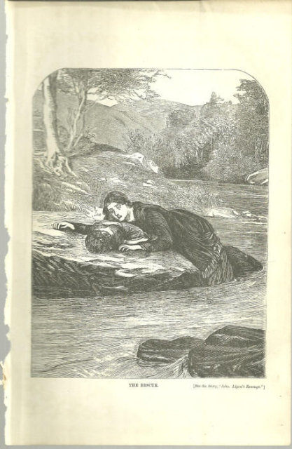 The Rescue Print from 1876 Peterson's Magazine