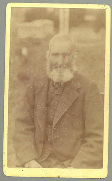 Small Cabinet Photograph of Old Man From Cardiff Wales
