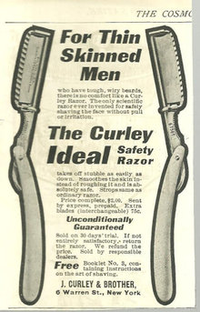 Curley Ideal Safety Razor 1904 Cosmopiltan Ad