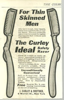 Curley Ideal Safety Razor 1904 Cosmopiltan Ad