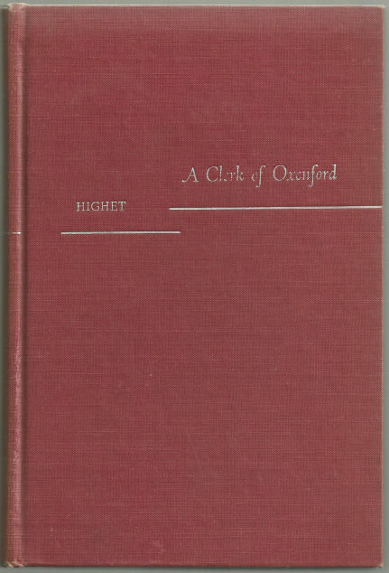 Clerk of Oxenford Essays on Literature and Life 1954
