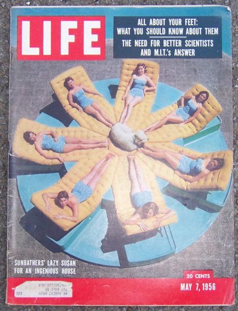 Life Magazine May 7, 1956 Sunbathers' Lazy Susan