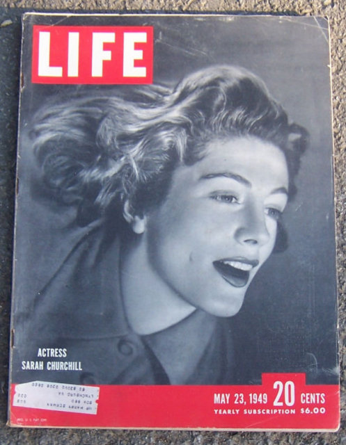 Life Magazine May 23, 1949 Sarah Churchill on Cover