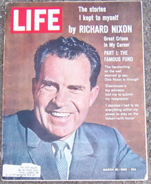 Life Magazine March 16, 1962 Richard Nixon on Cover