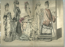 Colored Les Modes Parisiennes Fashion Print May 1876