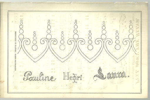 Design for Embroidery on Flannel 1876 Peterson's Mag