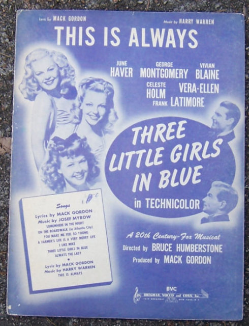This is Always From Three Little Girls in Blue 1946