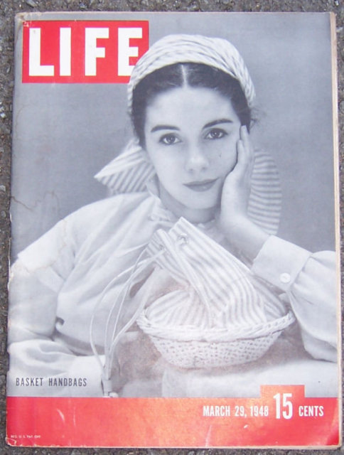 Life Magazine March 29, 1948 Basket Handbags on Cover