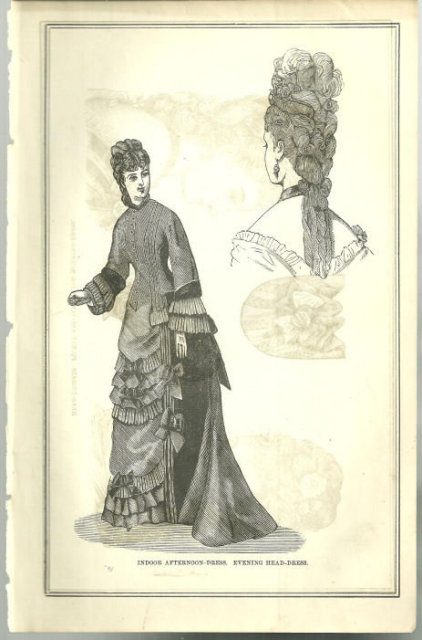 Indoor Afternoon Dress From 1876 Peterson's Magazine
