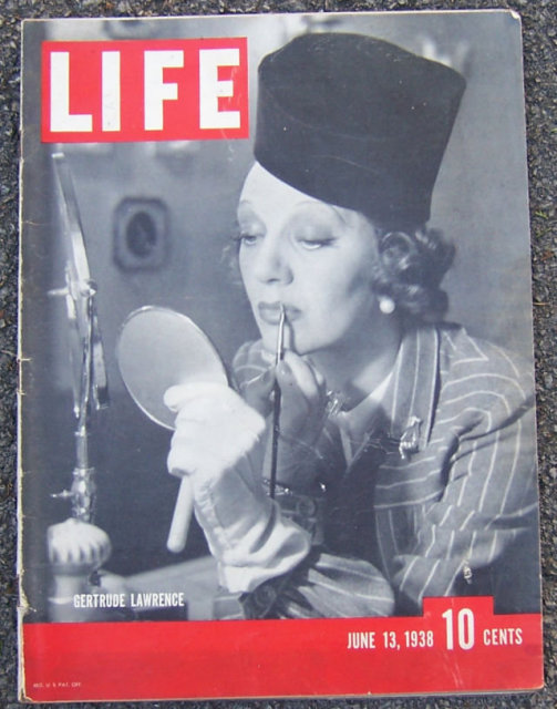 Life Magazine June 13, 1938 Gertrude Lawrence on Cover