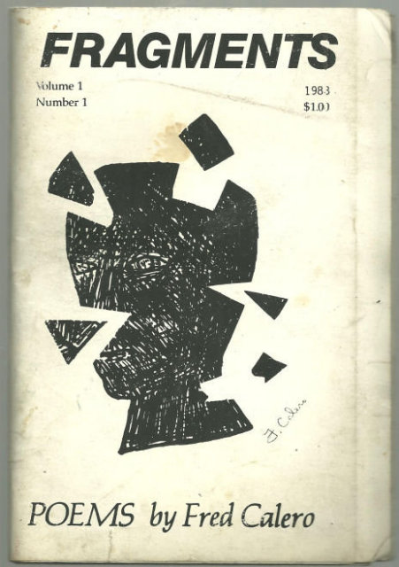 Fragments Poems by Fred Calero 1988 Small Press Poetry
