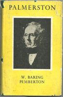 Lord Palmerston by  W. Baring  Pemberton 1954 1st ed DJ