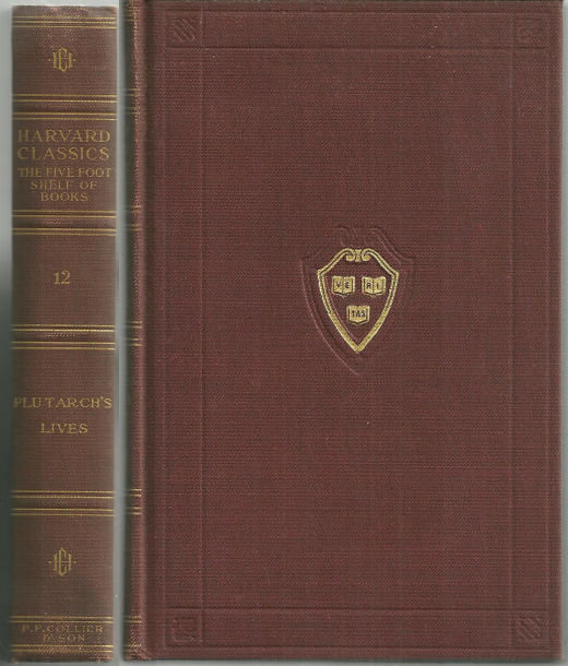 Plutarch's Lives Harvard Classics Volume 12 1909 Red