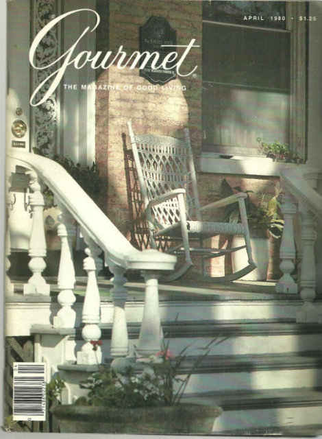 Gourmet Magazine April 1980 North Carolina on the Cover