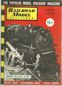 Railroad Model Craftsman Magazine June 1957 Railroad Display