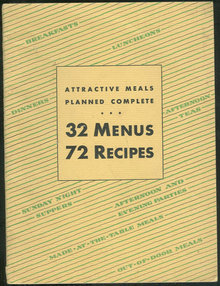 Attractive Meals Planned Complete 32 Menus 72 Recipes