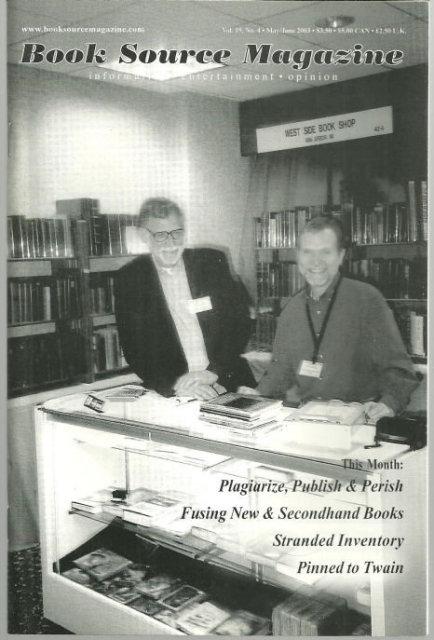Book Source Magazine May/June 2003 Publish and Perish