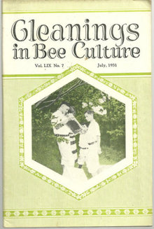Gleanings in Bee Culture July 1931 Beekeeping History