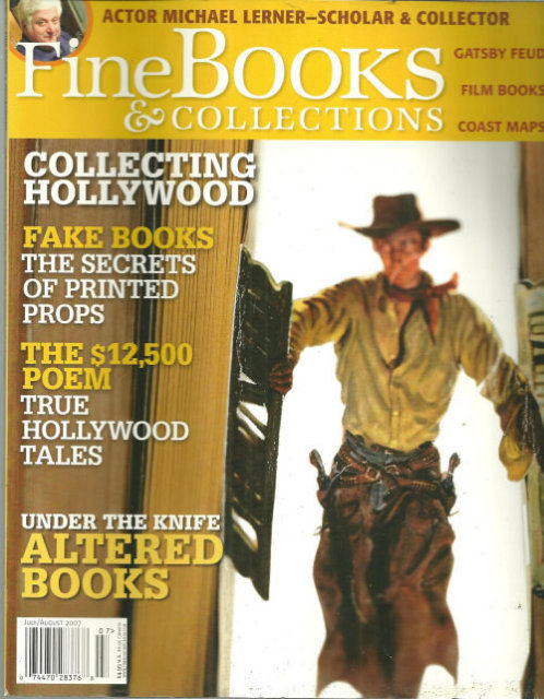 Fine Books and Collections July/August 2007 Hollywood