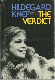 The Verdict by Hildegard Knef 1975 1st edition with DJ