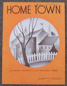 Home Town 1937 Sheet Music by Jimmy Kennedy