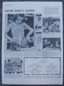 1945 Heinz Summer Menu Life Magazine Advertisement