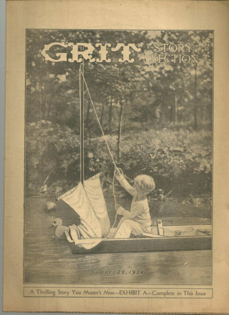 Grit Story Section July 22, 1934 Vintage Fiction