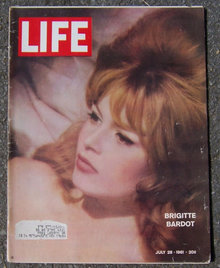 Life Magazine July 28, 1961 Brigitte Bardot on cover