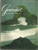Gourmet Magazine July 1977 American Somoa on Cover