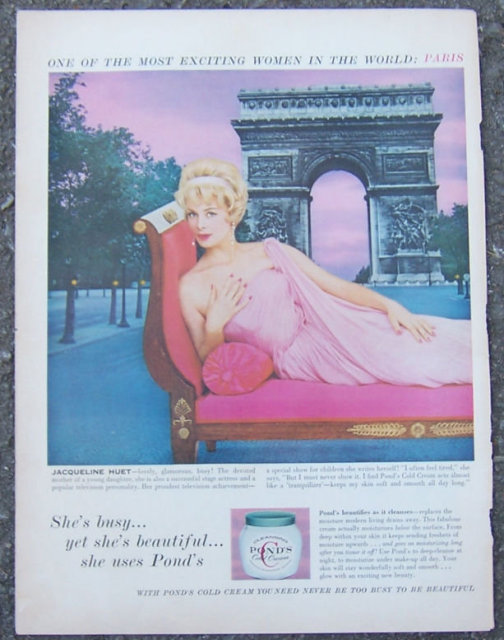 1955 Jacqueline Huet Pond's Life Magazine Advertisement