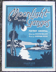 Moonlight on the Ganges Fox Trot Oriental 1926 Music