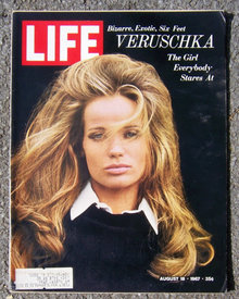 Life Magazine August 18, 1967 Veruschka on the Cover