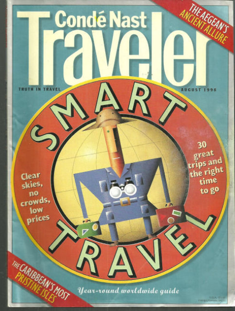 Conde Nast Traveler Magazine August 1998 Smart Travel
