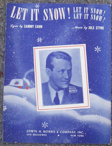 Let it Snow, Let it Snow, Let it Snow 1945 Sheet Music