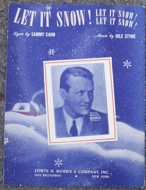 Let it Snow, Let it Snow, Let it Snow 1945 Sheet Music