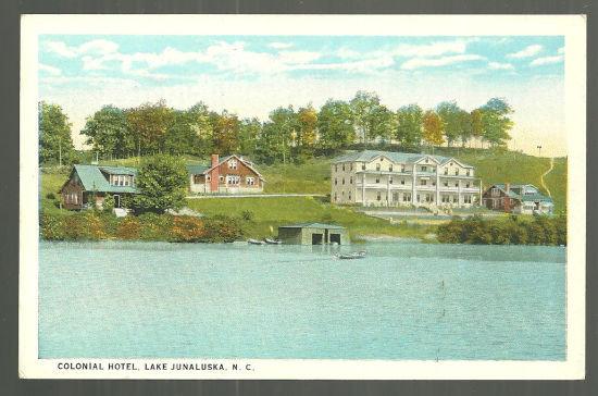 Postcard of Colonial Hotel, Lake Junaluska, NC