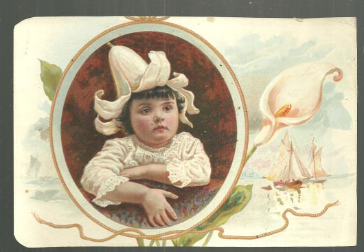 Easter Greetings From Lion Coffee Victorian Trade Card
